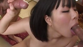 japanese threesome uncensored blowjob handjob hardcore