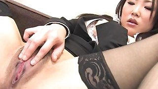 nylon masturbation japanese stocking