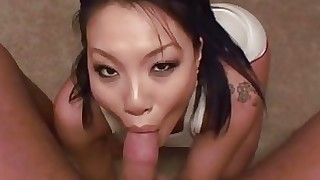 babe blowjob brunette cumshot handjob homemade hot mouthful oral