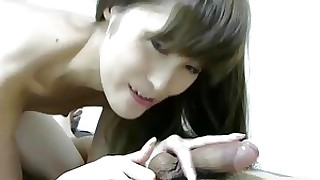 blowjob brunette close-up big-cock couple doggy-style japanese small-tits little