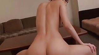 ass brunette big-cock creampie cumshot japanese little pussy ride