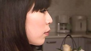 stocking pussy japanese lingerie kitchen