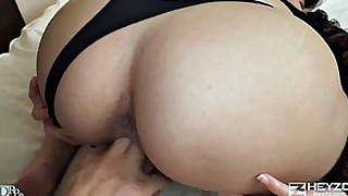 blowjob big-tits shaved babe little small-tits juicy huge-cock fingering