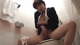 toilet schoolgirl oil little ass