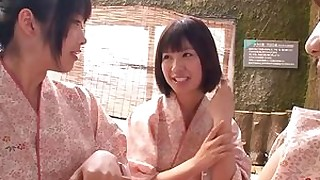 ass blowjob cumshot doggy-style fuck group-sex hot japanese outdoor