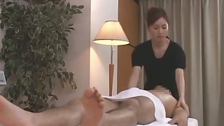 ass blowjob brunette handjob japanese massage