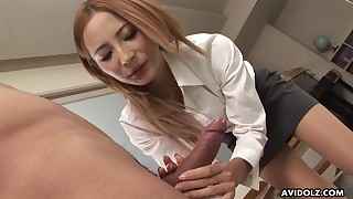 blonde handjob office party