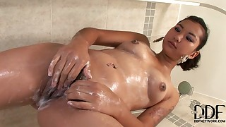 babe bathroom hd small-tits little solo squirting wet