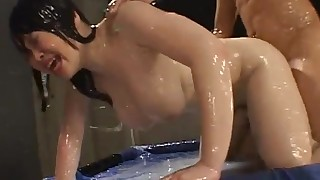 big-tits brunette bukkake crazy cumshot doggy-style dolly group-sex japanese