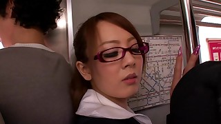 ass big-tits blowjob bus busty cumshot glasses japanese public