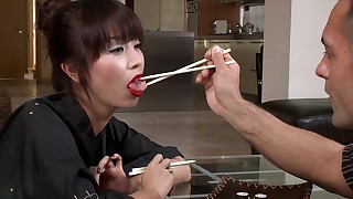 anal blowjob chick couple cumshot japanese licking small-tits little