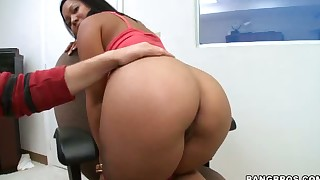 babe blowjob brunette big-cock cute milf office