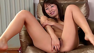 brunette fingering hairy lingerie small-tits little natural pussy skirt