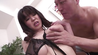 blowjob brunette creampie fingering foot-fetish japanese lingerie small-tits little