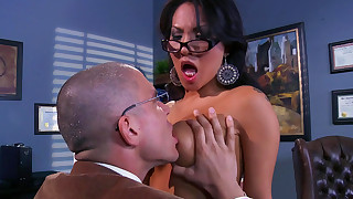 anal ass blowjob brunette fuck glasses hardcore interracial natural