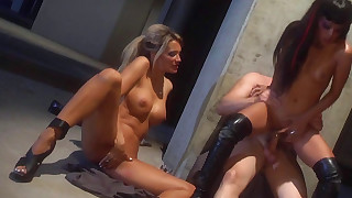blowjob doggy-style fuck hardcore natural pornstar ride threesome