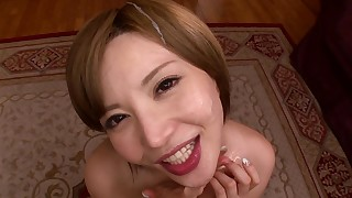 blowjob facials hot japanese small-tits little milf oral pov