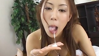 blowjob couple cumshot japanese licking masturbation model mouthful pussy