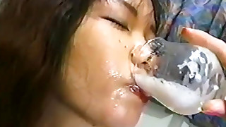brunette bukkake cumshot gang-bang japanese small-tits little
