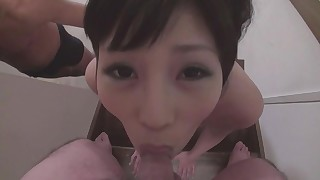 ass blowjob big-cock cumshot japanese small-tits little mouthful panties