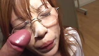 ass beauty blowjob bukkake classroom facials glasses japanese schoolgirl