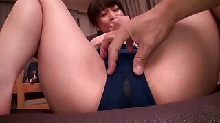 wet vibrator toys playing nasty little small-tits japanese facials