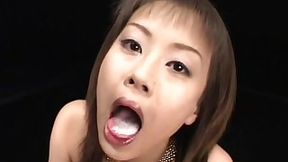 bukkake blowjob beauty stunning stocking natural japanese hairy gang-bang
