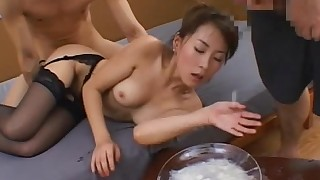 bukkake chick cumshot gang-bang hidden-cam japanese natural sperm stocking