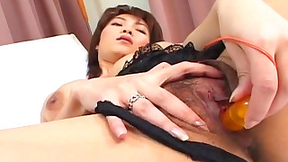 hairy hd japanese masturbation model playing solo toys