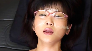 ass babe bukkake cumshot facials glasses handjob hd japanese