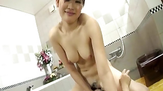 horny japanese natural pussy ride babe bathroom beauty emo
