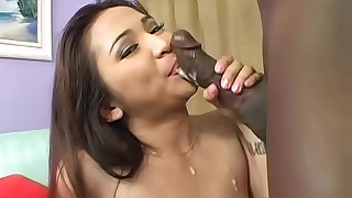 blowjob car cumshot hot interracial stocking