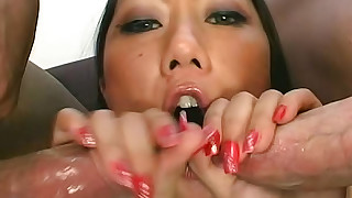 blowjob creampie cumshot doggy-style hardcore hot small-tits little milf