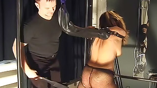 bdsm black small-tits little nylon panties punished pussy shaved