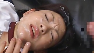 ass blowjob brunette bukkake classroom facials gang-bang glasses japanese