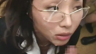 japanese hot hardcore hairy glasses gang-bang facials chick bukkake