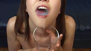 rimming small-tits cumshot bukkake brunette cum hot babe little