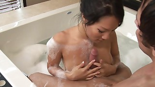 babe bathroom blowjob brunette couple foot-fetish massage masturbation natural