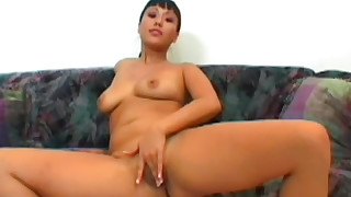 solo pussy natural ass masturbation lingerie emo busty brunette