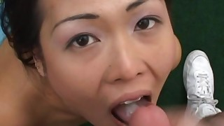 blowjob close-up couple cumshot fuck hardcore mouthful oral pov