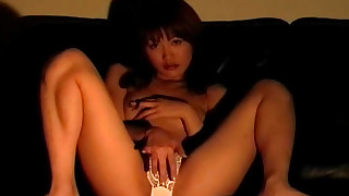 amateur brunette chick hairy japanese small-tits little masturbation solo